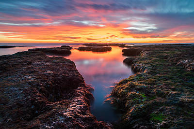 Stacks Photograph - La Jolla California Reflections by Larry Marshall