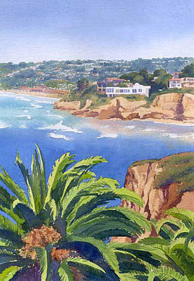 La Jolla Painting - La Jolla Coast by Mary Helmreich