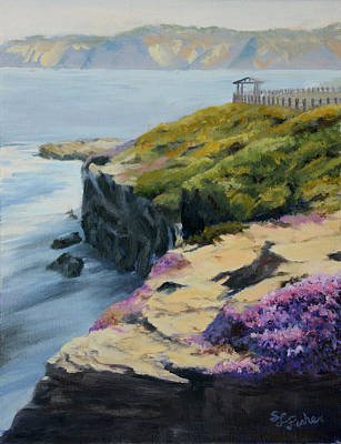 Painting - La Jolla Cove by Sandy Fisher