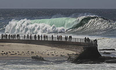 Childrens Pool Photograph - La Jolla Monster Surf by Russ Harris