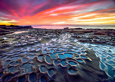 Art Print featuring the photograph La Jolla Potholes by Robert  Aycock