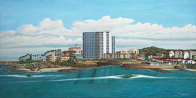 La Jolla Art Painting - La Jolla Shores by Robert Bradshaw