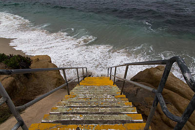 San Diego Artist Photograph - La Jolla Stairs by John Daly