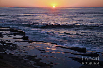La Jolla Sunset Reflection Art Print