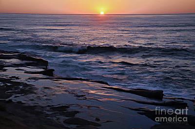 La Jolla Sunset Reflection Art Print