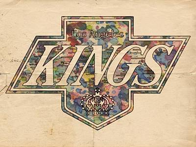 Stanley Cup Digital Art - La Kings Vintage Art by Florian Rodarte