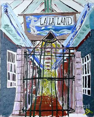 Art Print featuring the painting La La Land  by Leslie Byrne
