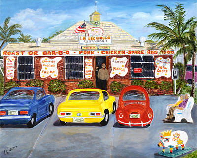 Painting - La Lechonera by Linda Cabrera