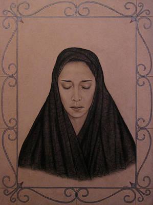 Crying Drawing - La Llorona by Lynet McDonald