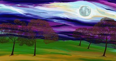 Painting - La Luna 10 by Jeanne Fischer