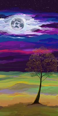 Painting - La Luna 6 by Jeanne Fischer