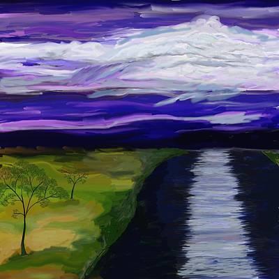 Painting - La Luna 7 by Jeanne Fischer