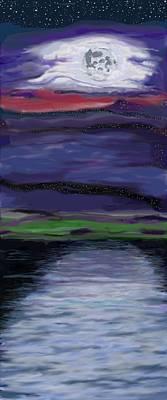 Painting - La Luna 8 by Jeanne Fischer