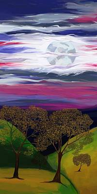 Digital Art - La Luna 9 by Jeanne Fischer