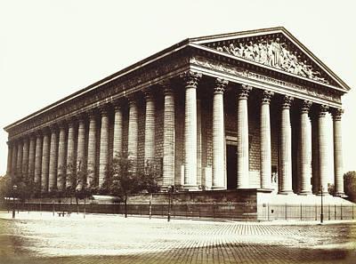 France La Madeleine Drawing - La Madeleine, Paris, France, Édouard Denis Baldus by Artokoloro