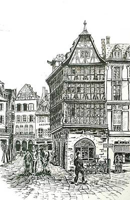 La Maison Kamerzell Print by Janice Best