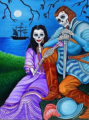 Painting - La Malinche Y Cortes by Evangelina Portillo