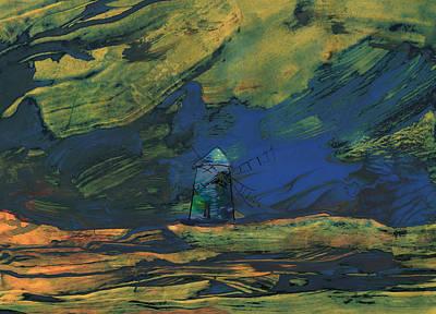 Don Quijote Painting - La Mancha De Noche by Miki De Goodaboom
