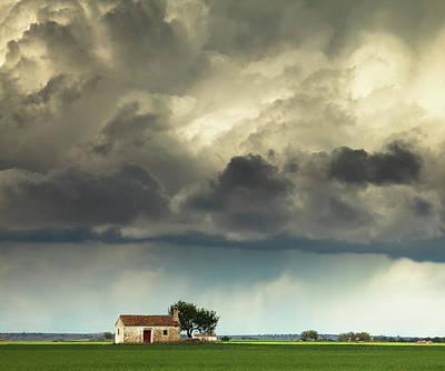 Cloudy Photograph - La Mancha I by Martin Zalba