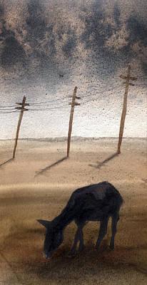 Donkey Mixed Media - La Mancha by Jose Luis Alcover