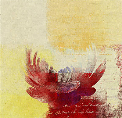 Red Abstract Digital Art - La Marguerite - 194191203-ro06tc by Variance Collections