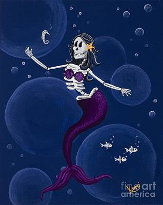 Painting - La Muerta Del Mar / The Dead Of The Sea by Kerri Ertman