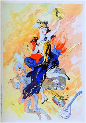Jules Mixed Media - La Musique - Panneau Decoratif by Charlie Ross