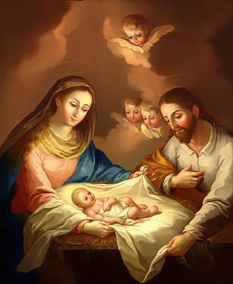 Christian Artwork Painting - La Natividad  by Mountain Dreams