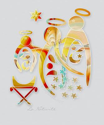 Nativity Digital Art - La Nativite by Gayle Odsather