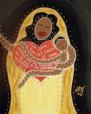 Painting - La Negrita by Angela Yarber