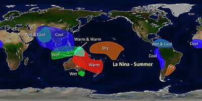 Extreme Weather Photograph - La Nina Summer Effects by Noaa
