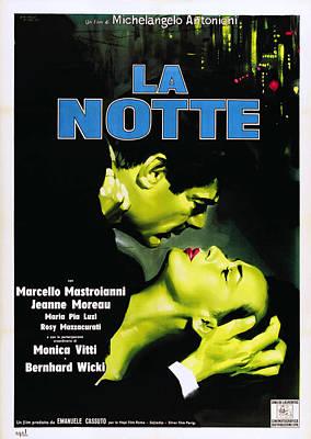 Infidelity Photograph - La Notte, Italian Poster Art, From Left by Everett