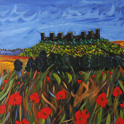 Tuscan Hills Painting - La Notte by Seonaid  Ross