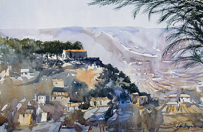 Spanish Villa Painting - La Nurcia Costa Blanca Spain by Lea  Nixon