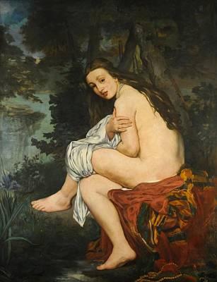Nymphe Painting - La Nymphe Surprise by Edouard Manet