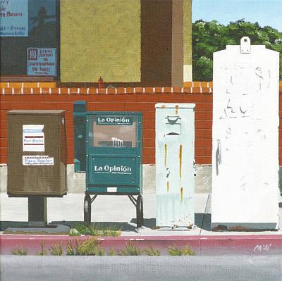 Opinion Painting - La Opinion by Michael Ward