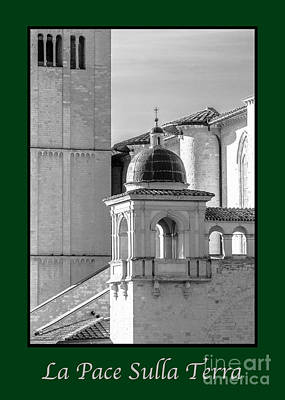 Photograph - La Pace Sulla Terra With Basilica Details by Prints of Italy