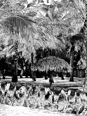 La Palapa Vertical Irfrared Art Print by Heather Kirk