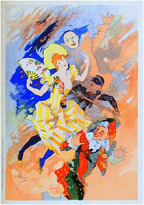 Jules Mixed Media - La Pantomime - Panneau Decoratif by Charlie Ross