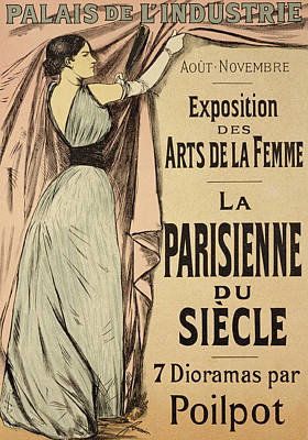 Advertisements Drawing - La Parisienne Du Siecle by Jean Louis Forain