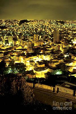 Architectur Photograph - La Paz Cityscape Bolivia by Ryan Fox