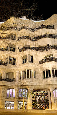 Photograph - La Pedrera At Night - Gaudi by Weston Westmoreland