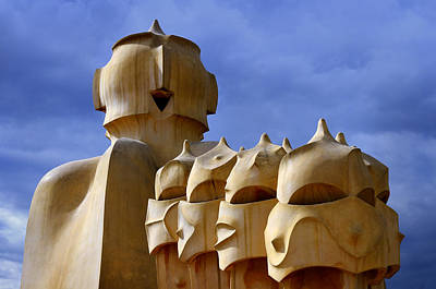 Photograph - La Pedrera Chimneys by Jack Daulton
