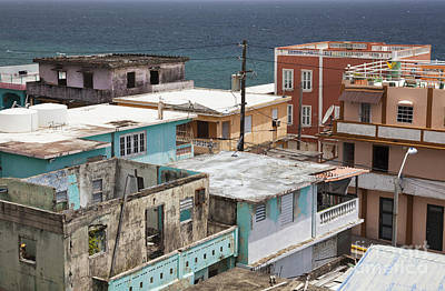 Photograph - La Perla District In Old San Juan Puerto Rico by Bryan Mullennix