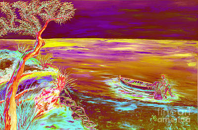 Summer Painting - La Pesca by Loredana Messina