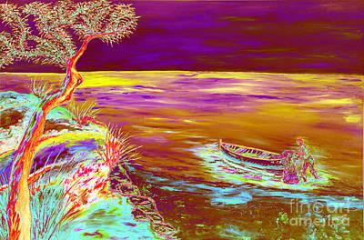 Realism Mixed Media - La Pesca by Loredana Messina