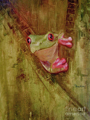 Painting - La Petite Grenouille Verte by Sharon Burger