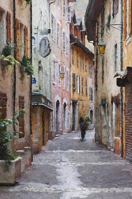 La Pietonne A Annecy - France Art Print