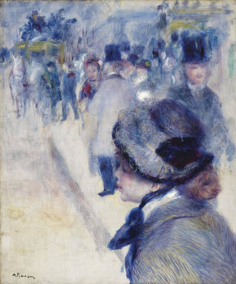 Victorian Town Painting - La Place Clichy, Circa 1880 by Pierre Auguste Renoir