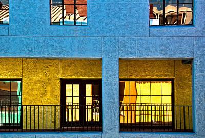 Photograph - La Placita Reflections by Maria Coulson